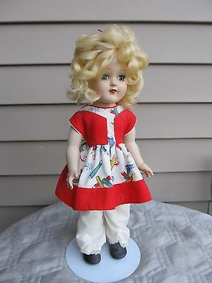 1950'S IDEAL P-91 TONI DOLL with Vintage Dress stockings and shoes