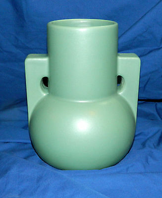 """TECO POTTERY PAGODA VASE  9"""" Tall  WILLIAM D. GATES  Prairie Arts and Crafts"""
