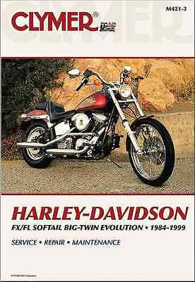 Harley-Davidson FLS/FXS Softail Big Twin Evolution 1984-99 Clymer Repair Manual