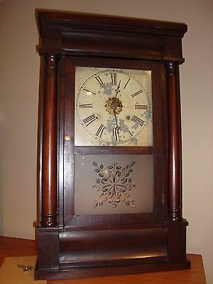 Og Ogee Column & Cornice Clock by J. C. Brown Forestville