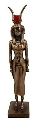 "Fantasy Collection Egyptian Queen Goddess Isis Ra Decorative Figurine 9"" Tall"