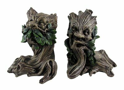 Fantasy Collection Mythical Forest Spirit Greenman Bookends Figurine RARE STATUE