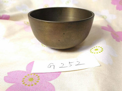 "2.717""Japanese Vintage Buddhist Bell Zen Gong Rin G252 Good Sound"