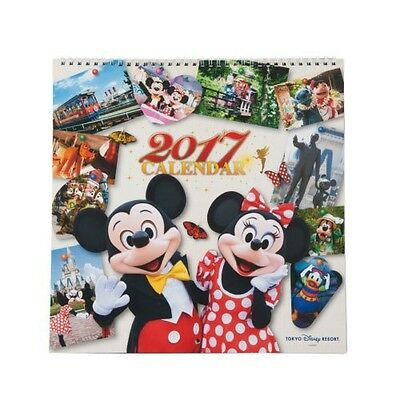 New Disney 2017 wall calendar photo Mickey Mouse Minnie Mouse[Tokyo Limited]