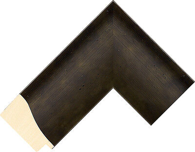 20 ft - Larson Juhl Wide Silver Picture Frame Moulding, Forged IRON, Ferrosa