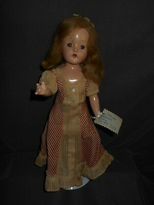 "Vintage Effanbee Suzanne Composition Doll, 14"", Original Clothing"