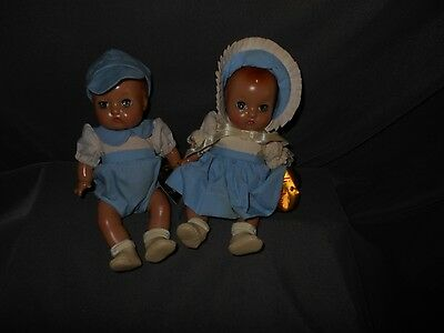 "Effanbee Patsy Babyette Twin Boy and Girl Dolls, 9"", Used, Very Nice Condition"