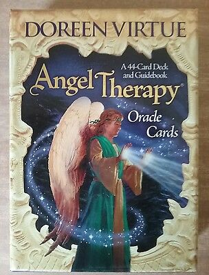 ANGEL THERAPY Oracle Tarot Cards Deck Doreen Virtue Guidebook 44 Cards Reiki
