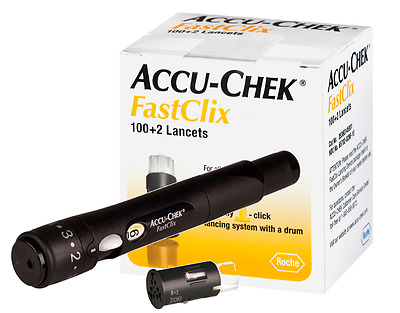 Accu-Chek FastClix Lancets Device and 102 lancets SALE