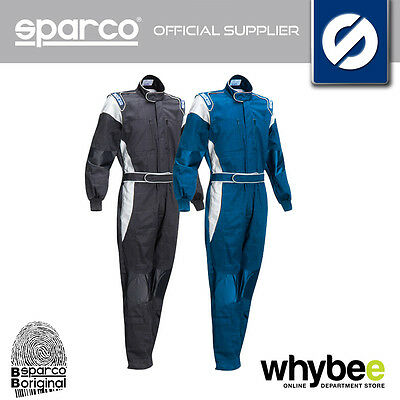 002062 Sparco X-Light M Mechanic Suit Overalls Pit Crew 100% Cotton Fabric S-Xxl