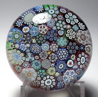 SPECTACULAR PETER MCDOUGALL CLOSEPACK MILLEFIORI PAPERWEIGHT wiith COMPLEX CANES