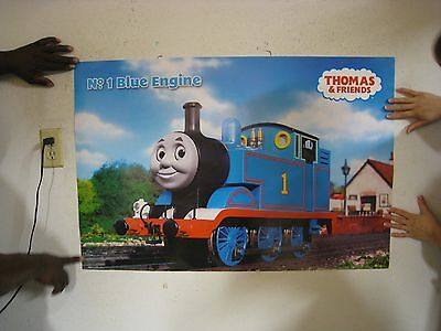 Thomas The Tank Engine Poster Train Blue Commercial