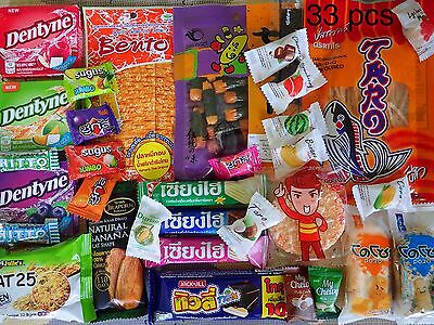 33 pcs Gummy Candy Snacks Sweets assorted Thai food , free shipping