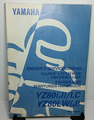 YAMAHA YZ80 J / LC, YZ80LW MOTOR CYCLE - Factory Service Repair Workshop Manual