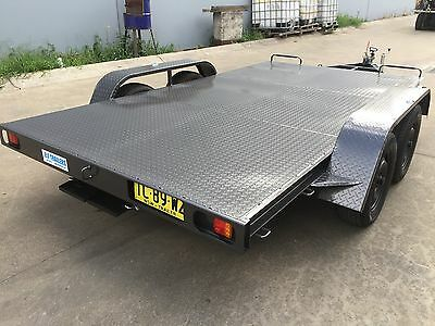 Brand new Car Trailer brand new Tandem axle 12X6.6FT 2T ATM under rear ramps
