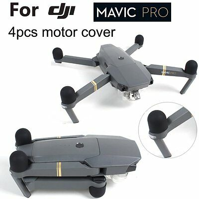 4x Black Anti-dust Silicon Soft Protective Motor Cap Hat Cover For DJI Mavic Pro