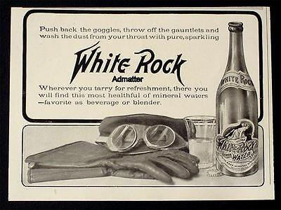 Rare 1906 White Rock Mineral Spring Co. Carbonated Water Beverage Bar Art!