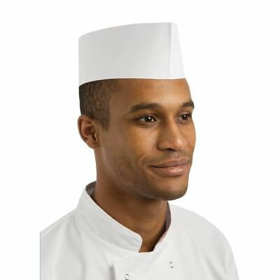 100X Disposable Forage Hat Kitchen Catering Chef Headwear Cap One Size