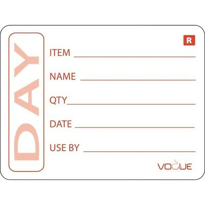500X Vogue Prepped Product Removable Labels Catering Kitchen Restaurant Stickers