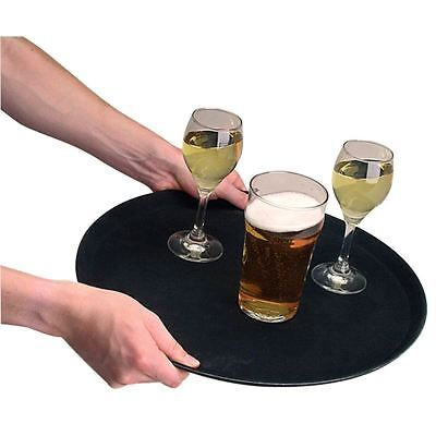 Kristallon Plastic Round Anti-Slip Bar Tray Medium Drink Serving Platter