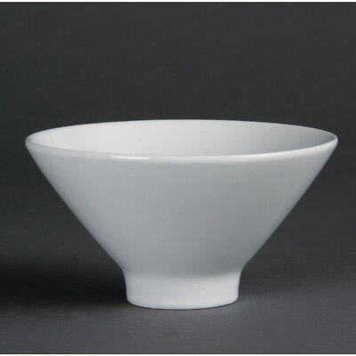 4X Olympia Whiteware Fluted Bowls 141mm Kitchen Serving Dishes Restaurant