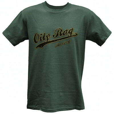 Oily Rag Clothing Racing Motorcycle Casual T-Shirt - Grey