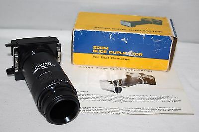 Bush & Meissner - Ohnar Zoom Slide Duplicator - Box/Manual - vgc