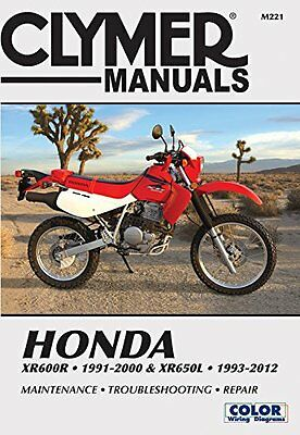 Honda XR600R 1991 - 2000 & XR650L 1993 - 2012 Clymer Service & Repair Manual