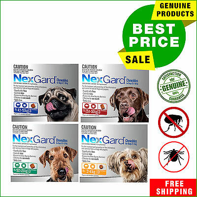 Nexgard Nexguard for Dogs 3 Chews All Sizes Flea and Tick Treatment by Merial