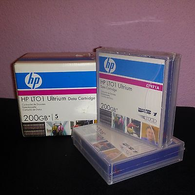 Caja de 5 HP LTO1 Ultrium Data Cartridge (C7971A) 200Gb - Nuevo Precintado