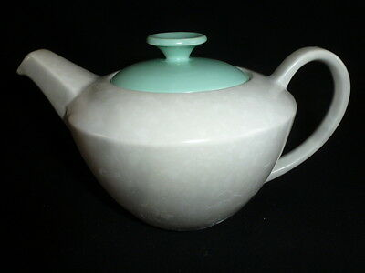 Poole Pottery Twintone Ice Green and Seagull - Two  Pint Tea Pot