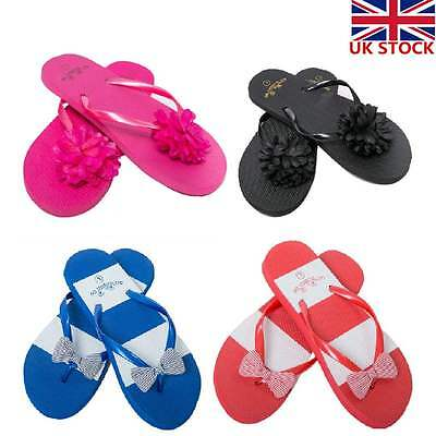 Flip Flops Womens Ladies Sandals Flat Beach Pool Shoes New Size 3 4 5 6 7 8