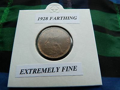 EXTREMELY FINE? 1928 FARTHING    George V