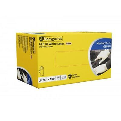 Box 100, 200, 500 or 1000 Bodyguards 4 Latex Lightly Powdered Disposable Gloves