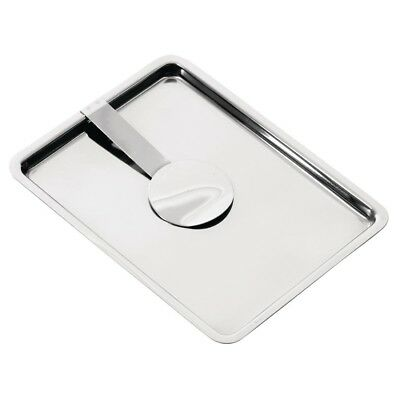 Olympia Curved Stainless Steel Tip Tray With Bill Clip