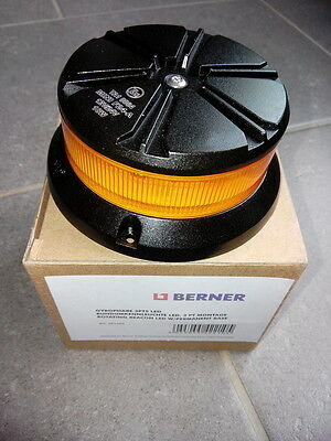 GYROPHARE ORANGE 3 POINTS LED 12V/24V Homologation ECE R65 classe 1
