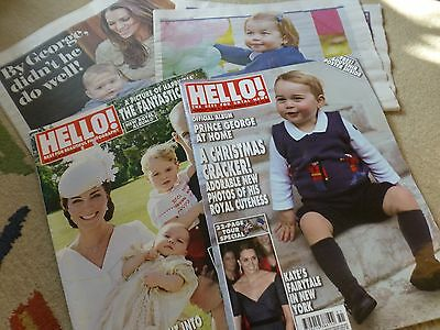 2 Hello magazines featuring Royal Family William Kate George & Charlotte & more