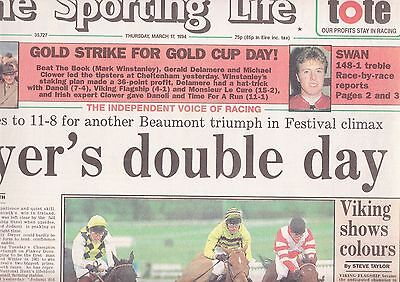 "The Sporting Life Newspaper - Thursday March 17, 1994 - ""GOLD CUP"""