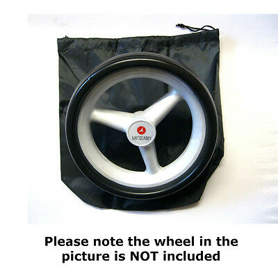 """GOLF TROLLEY WHEEL COVERS SUITS ELECTRIC CART WHEELS-ONE PAIR - In Black """"NEW"""""""