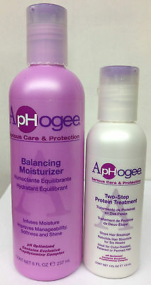 ApHogee Two Step Protein Treatment & Balancing Moisturizer  (118ml & 237ml Each)