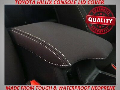 Toyota Hilux  Neoprene  Console Lid Cover (Wetsuit Material) Aug 2015 - Current