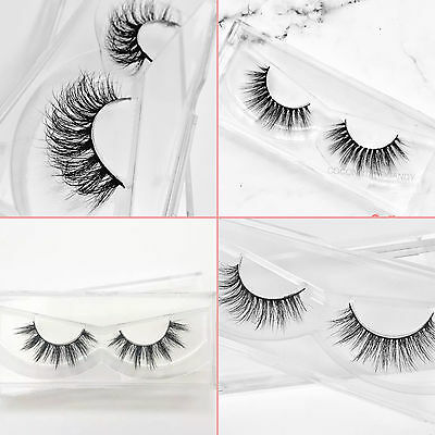 Kylie & Lilly 100% Luxury 3D Mink False Lashes Eyelashes Long Strip Party Miami