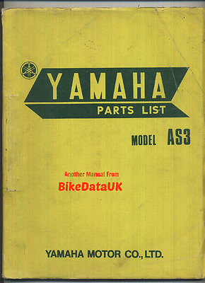 Yamaha 125 Twin AS3 (1971-1973) Parts List Catalogue Book YAS3 307 (pre-RD LC)