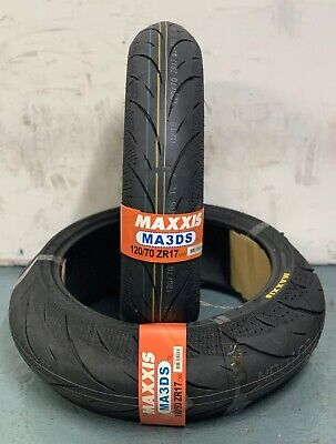 1x 120/70/17 1x 190/50/17 Maxxis Supermaxx Diamond MA3DS Motorcycle tyres PAIR