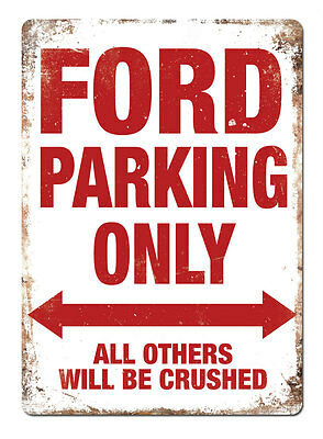 WTF | FORD PARKING ONLY | Metal Wall Sign Plaque Art | Fiesta Focus ST RS Escort