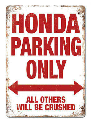WTF | HONDA PARKING ONLY | Metal Wall Sign Plaque Art Civic Accord Vtech Bike