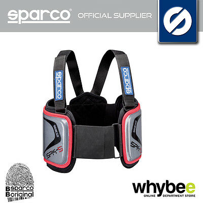 Sparco Spk-5 Spk5 Karting Rigid Rib Protection Vest In Kevlar Sizes Xs To Xl