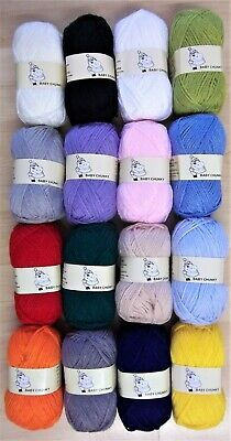 Woolyhippo Chunky Yarn Acrylic Wool Soft Nylon Baby 100g Knitting Crochet Craft