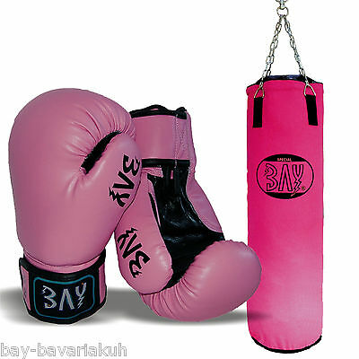 BAY® BIG BOXSET PINK ROSA Box-Set Sandsack Boxsack Boxhandschuhe Lady Damen Kids