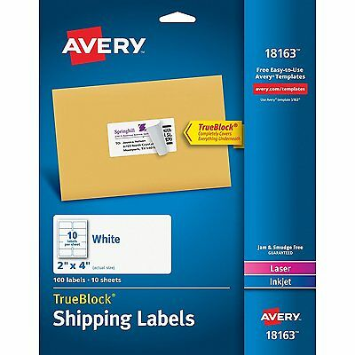 Avery Shipping Labels for Laser and Inkjet Printers, White, 2 x 4 Inches, Pack